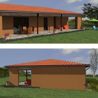 Vue 3d maison architecte