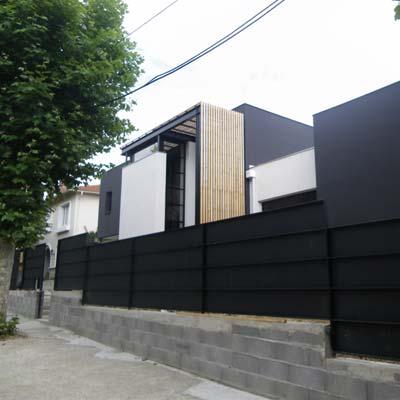 Façade extérieur maison d'architecte
