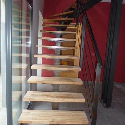 Escalier en bois architecte