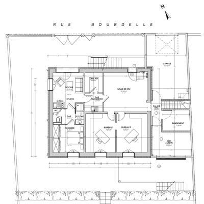 Conception avec plan d'architecte