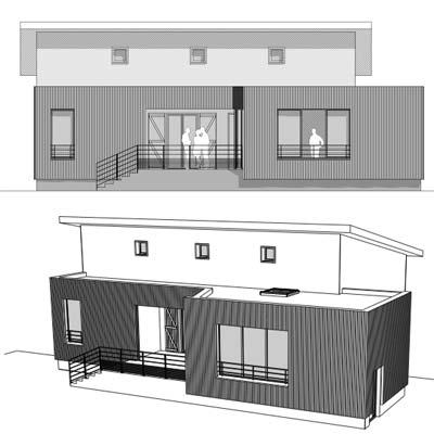Différentes vues de plan d'un bâtiment