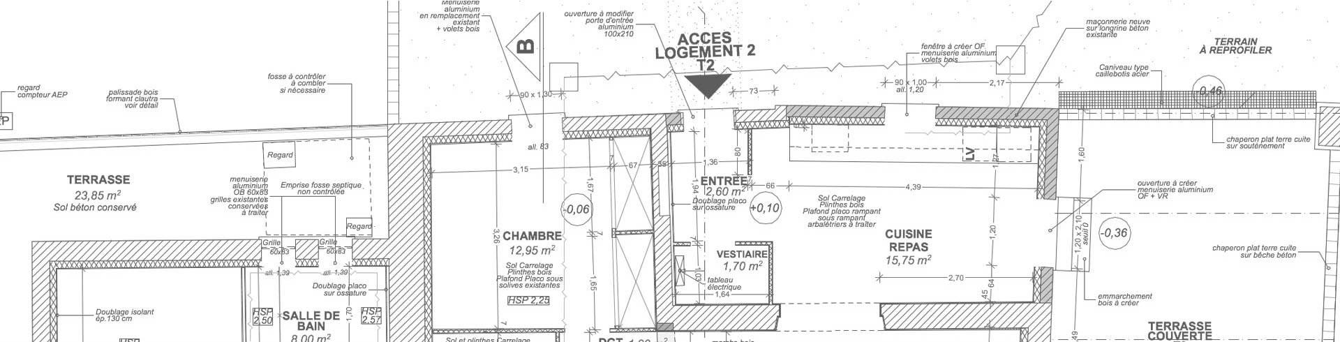 Marc vergely architecte dplg caussade tarn et garonne for Plan caussade